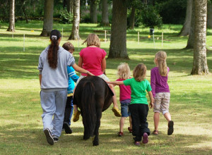 Ponnyridning för barnen